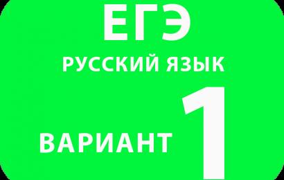 Русский язык вариант №1