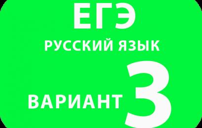 Русский язык вариант №3