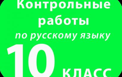 Контрольная работа по русскому языку 10 класс