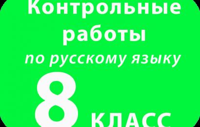 Контрольная работа по русскому языку 8 класс