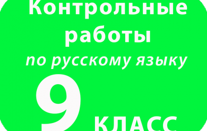Контрольная работа по русскому языку 9 класс