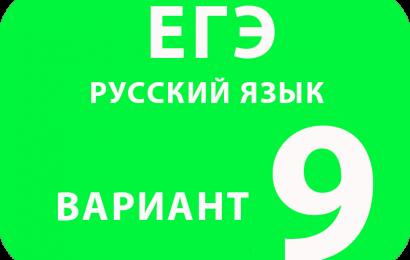 Русский язык вариант №9