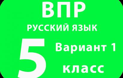 ВПР Русский язык 5 класс Вариант 1