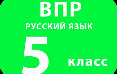 ВПР 2017 г. Русский язык. 5 класс. Образец