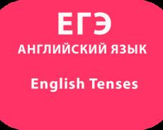 English Tenses Времена в английском языке