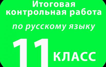 Итоговая контрольная работа по русскому языку 11 класс