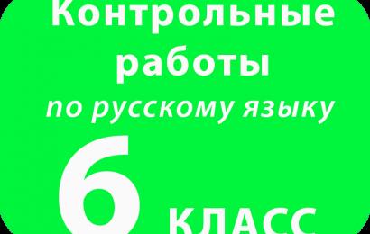 Контрольная работа по русскому языку 6 класс