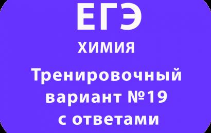 Тренировочный вариант ЕГЭ по химии №19 с ответами