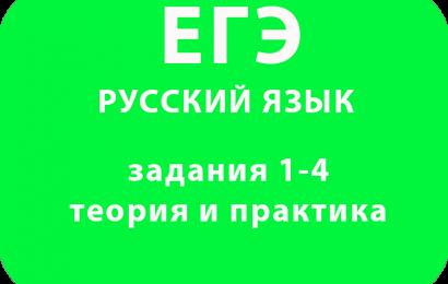 ЕГЭ по русскому языку задания 1-4 теория и практика
