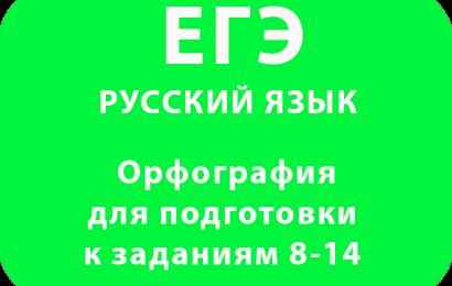 Орфография в ЕГЭ по русскому языку