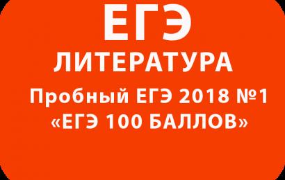 Пробный ЕГЭ 2018 по литературе №1 с ответами
