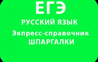 Экпресс-справочник по русскому языку – ШПАРГАЛКИ