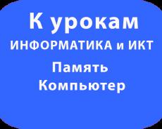 Компьютер Память 7 класс ФГОС Угринович