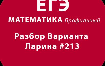 ЕГЭ по математике 2018 Решение варианта Александр Ларина №213