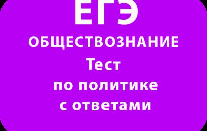 ЕГЭ Обществознание тест по политике с ответами