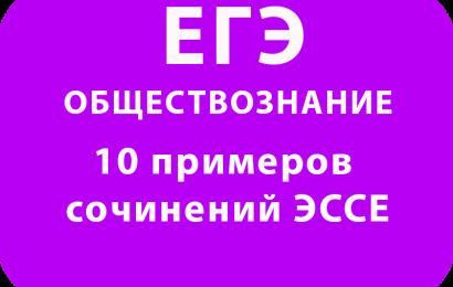 10 примеров сочинений ЭССЕ по обществознанию