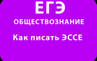 Как писать ЭССЕ по обществознанию ЕГЭ