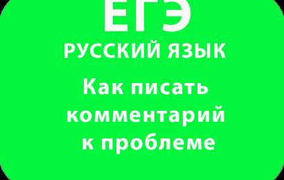 ЕГЭ Русский язык сочинение Как писать комментарий к проблеме