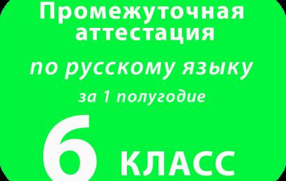 Промежуточная аттестация по русскому языку 6 класс за 1 полугодие