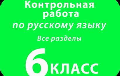 Контрольная  работа по русскому языку. Все разделы за курс 6 класса.