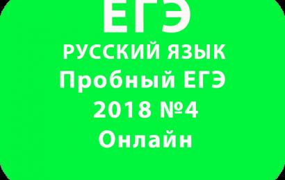 Пробный ЕГЭ 2018 по русскому языку №4 Онлайн