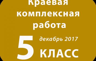 Краевая комплексная работа ФГОС ООО, 5 класс, декабрь 2017