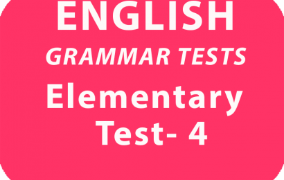 English Grammar Tests Elementary Test 4 Online