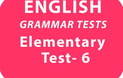 English Grammar Tests Elementary Test 6 online