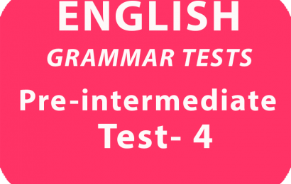 English Gramar Tests Pre-Intermediate Test 4 online