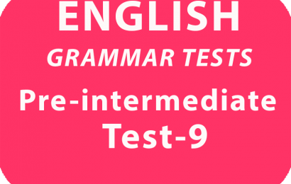 English Grammar Tests Pre-Intermediate Test 9 online
