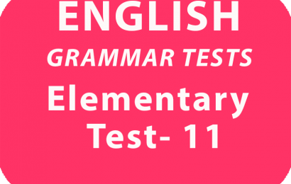 English Grammar Tests Elementary Test 11 online