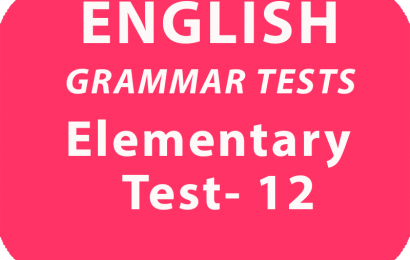 English Grammar Tests Elementary Test 12 online
