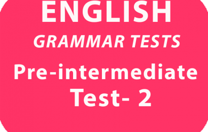 English Grammar Tests Pre-Intermediate Test 2 online