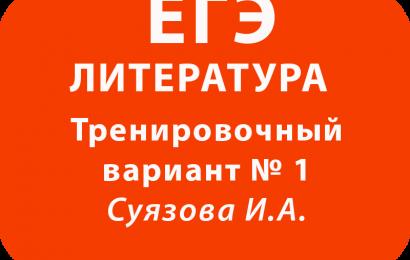 ЕГЭ по литературе Тренировочный вариант № 1 с ответами