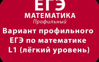 Вариант профильного ЕГЭ по математике L1 (лёгкий уровень)