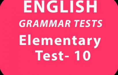 English Grammar Tests Elementary Test 10 online
