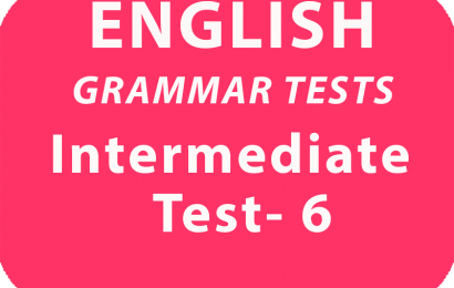 English Grammar Tests Intermediate Test 6 online