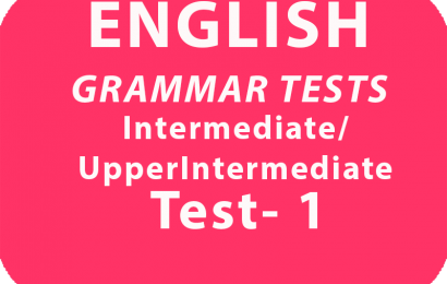 English Grammar Tests Intermediate/UpperIntermediate Test 1 online