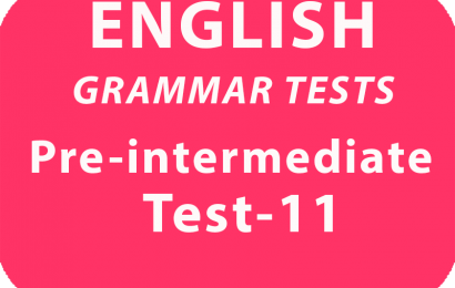 English Grammar Tests Pre-Intermediate Test 11 online
