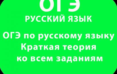 ОГЭ по русскому языку Краткая теория ко всем заданиям
