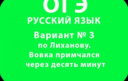 ОГЭ Вариант № 3 по Лиханову. Вовка примчался через десять минут