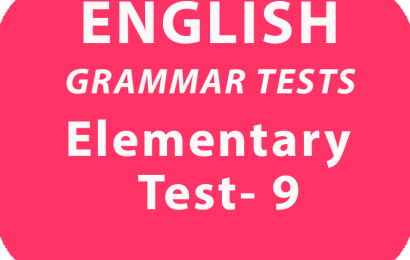 English Grammar Tests Elementary Test 9 online