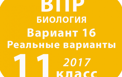 ВПР 2017 г. Биология. 11 класс. Вариант 16 с ответами