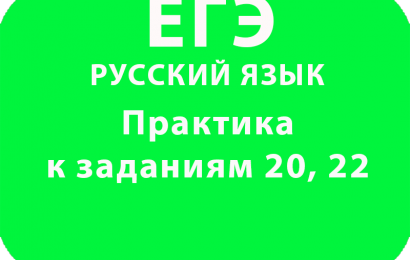 Практика к заданиям 20, 22 ЕГЭ по русскому языку