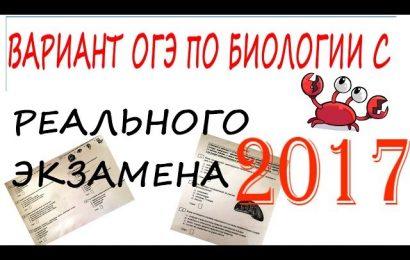 ОГЭ по биологии с РЕАЛЬНОГО экзамена 2017!!!!