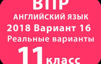 ВПР 2018 Английский язык 11 класс Вариант №16