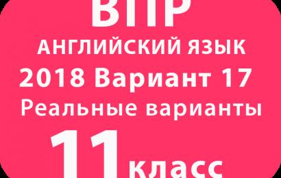 ВПР 2018 Английский язык 11 класс Вариант №17