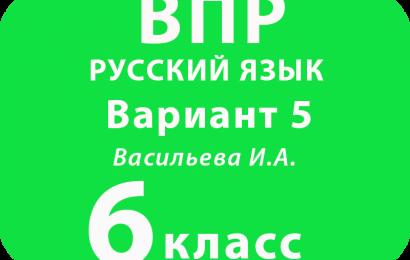 ВПР Русский язык 6 класс Вариант 5 с ответами