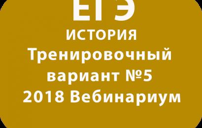 ЕГЭ ИСТОРИЯ 2018 Тренировочный вариант №5 Вебинариум