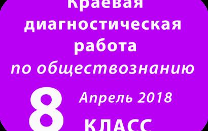 Демоверсия КДР ОБЩЕСТВОЗНАНИЕ 8 класс Апрель 2018